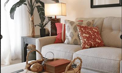 Living Room, 502 University Apartments, 2