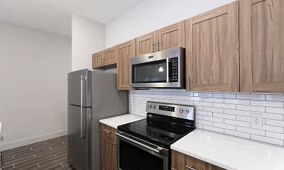 Kitchen, Market Lofts, 1