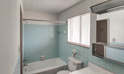 Bathroom, Imperial Terrace Apartments, 2