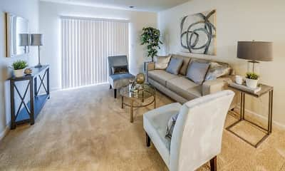 Living Room, Eastland Court Senior Apartments, 0