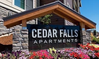Community Signage, Cedar Falls Apartment Homes, 2