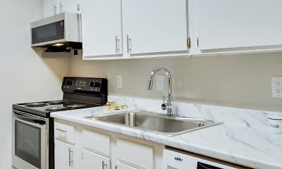 Kitchen, Innovation Flats at Research Park, 1