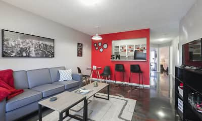 Living Room, Stadium Walk Apartments, 0