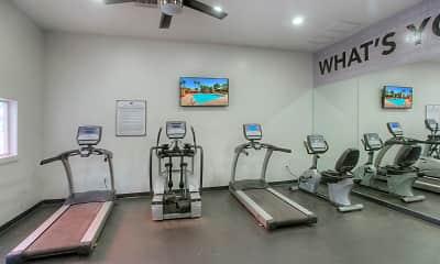 Fitness Weight Room, Villa de Cortez, 2