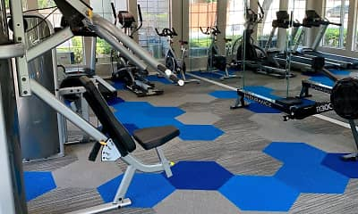 Fitness Weight Room, Lincoln Crossing Apartments, 2