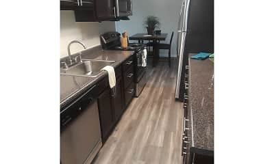 Kitchen, Laurel Village Apartments, 2