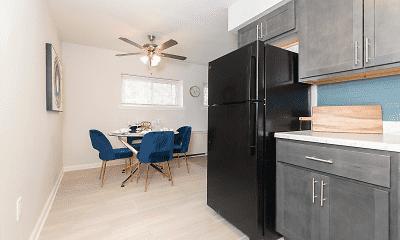 Kitchen, Oxford House Apartments, 0