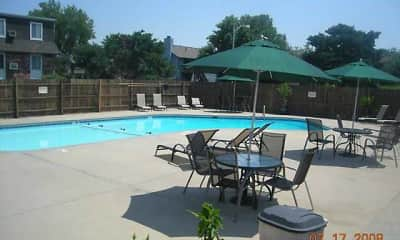 Pool, Clairborne Court Apartments, 0