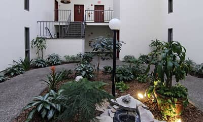 Courtyard, Wintergreen Apartments, 1