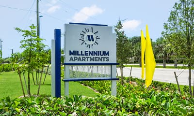 Community Signage, Millennium Apartments, 2