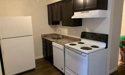 Kitchen, Heege Place Apartments, 2