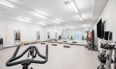 Fitness Weight Room, The Backyard at One North, 2