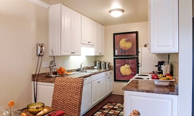 Kitchen, Peninsula Pines Apartments, 1