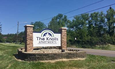 Community Signage, Knolls Apartments, 2