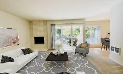 Living Room, Carriage House Apartments, 1