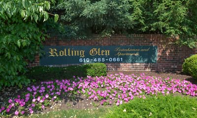 Community Signage, Rolling Glen Townhomes & Apartments, 0