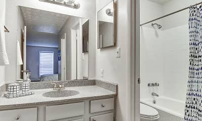 Bathroom, Lakeview Apartment Homes, 2