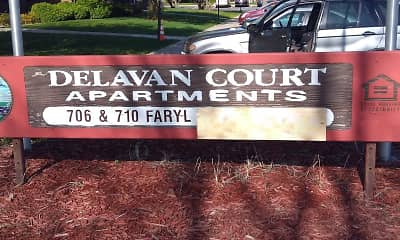 Community Signage, Delavan Court Apartments, 2