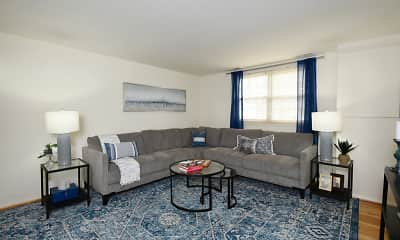 Living Room, Hyde Park Apartments, 1
