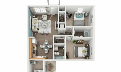 floor plan, Robins Place, 1