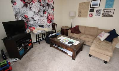 Living Room, Oakland Apartments, 1