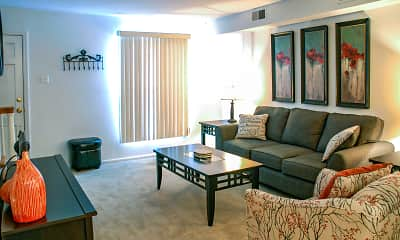 Living Room, Warson Village Towne House Apartments, 1