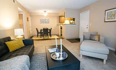 Living Room, Oak Ridge Apartments, 1