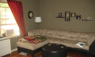 Living Room, Highland Village Apartments, 2