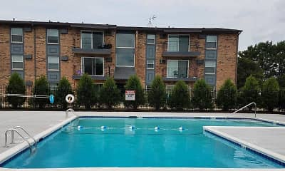 Pool, The Residences @ 159 Tinley Park, 2