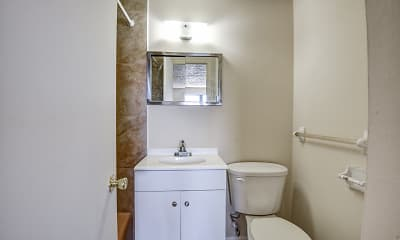 Bathroom, Grand Prix Apartments, 2