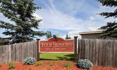 Community Signage, Four Seasons Apartments, 2