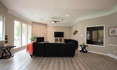 Living Room, The Enclave At Stonebrook, 1