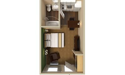 Furnished Studio - San Antonio - Airport, 2