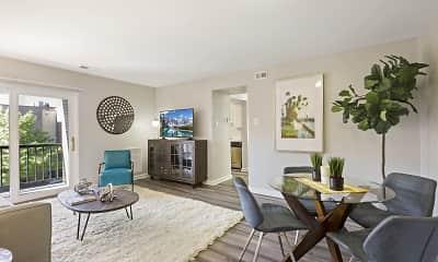 Living Room, Washington Apartments, 0