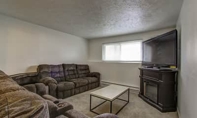 Living Room, Pine Grove Apartments, 1