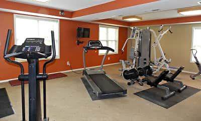 Fitness Weight Room, Grove at Latimer, 2