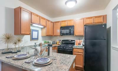 Kitchen, Buffalo Creek Apartments, 1