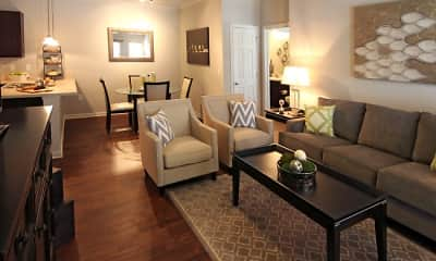 Living Room, Villa Broussard, 1