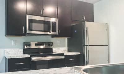 Kitchen, Knolls Apartments, 1