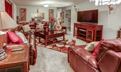 Living Room, Cypress Trace Apartments, 1