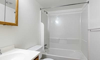 Bathroom, Hawksworth Garden Apartments, 2