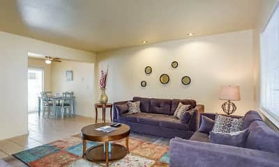 Living Room, Casa Blanca Apartments, 1
