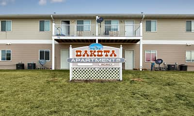 Community Signage, Dakota B Apartments, 2