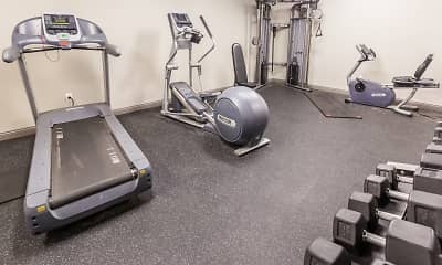 Fitness Weight Room, The Annex of New Albany Student Housing, 1