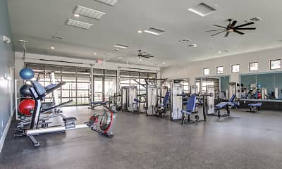 Fitness Weight Room, Zinc Apartments, 2
