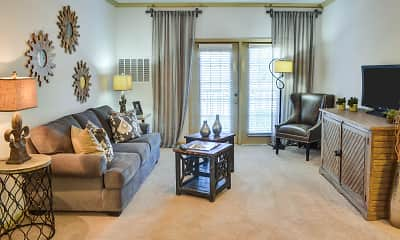 Living Room, Broadstreet At EastChase Apartments, 1