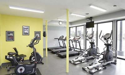 Fitness Weight Room, Haven Apartments, 2