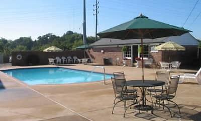Pool, Colonial Village, 1