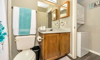 Bathroom, Pecan Ridge Apartments, 2