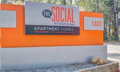 Community Signage, The Social at Tallahassee Student Living, 2